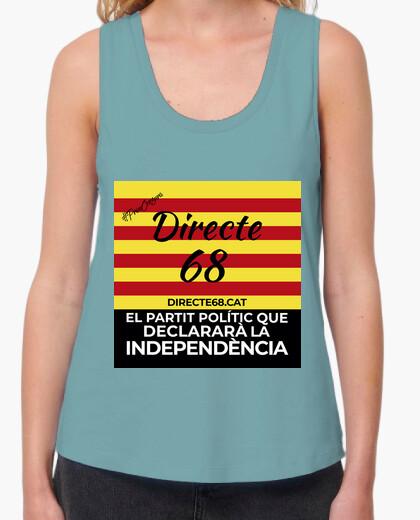 Camiseta Samarreta per a dona sense mànigues - Directe 68 amb eslògan