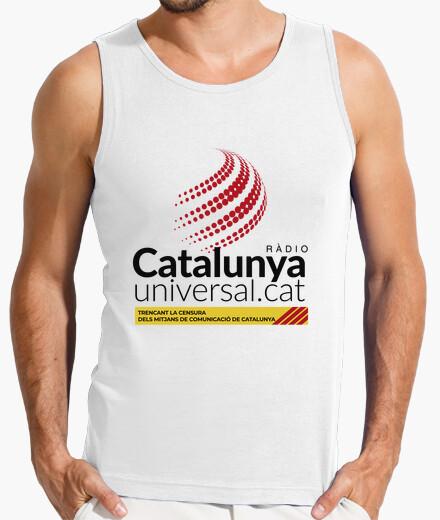 Camiseta Samarreta per a home sense mànigues - Ràdio Catalunya Universal negre