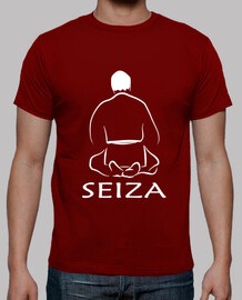 Camiseta Seiza back granate