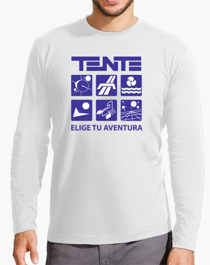 Camiseta Series TENTE en blanco ML