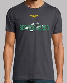 Camiseta Servicio Aéreo de la Guardia Civil Hombre, manga corta, gris ratón, calidad extra