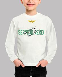 Camiseta Servicio Aéreo de la Guardia Civil Niño, manga corta, blanco