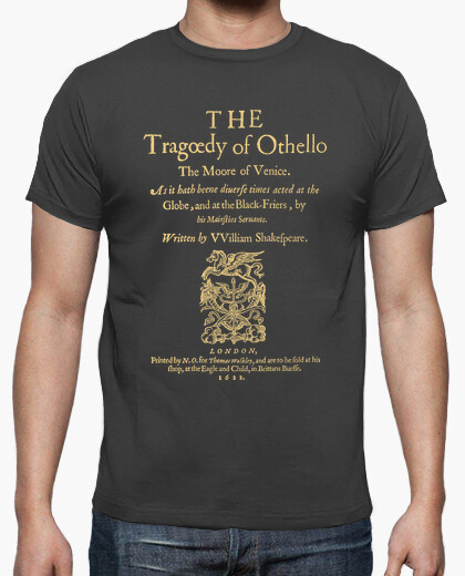 Camiseta Shakespeare, Othello 1622 (dark Tees)