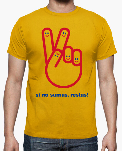 Camiseta Si no Sumas Restas  Spanish Revolution