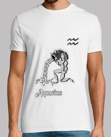 camiseta signo zodiaco acuario hombre astrología