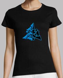 Camiseta símbolo WowChakra Azul Neon