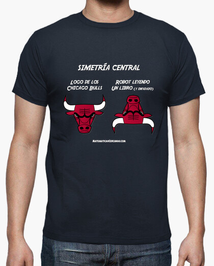 Camiseta Simetría central Chicago Bulls