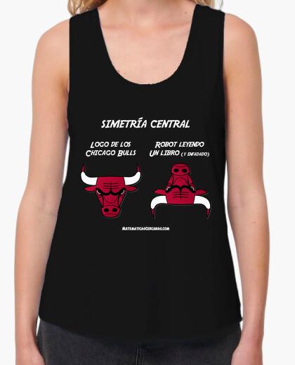 Camiseta Simetría central Chicago Bulls