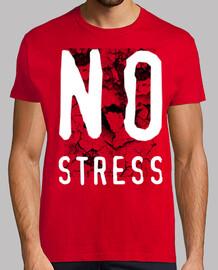 camiseta sin grietas de estrés