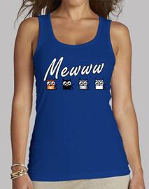Camiseta sin mangas Gatos Mewww