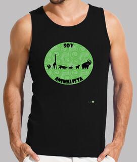 Camiseta sin mangas hombre: Soy animalista