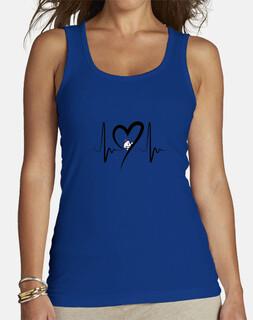 Camiseta sin mangas mujer, bichón maltés