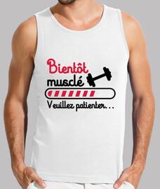 camiseta sin mangas pronto culturismo muscular