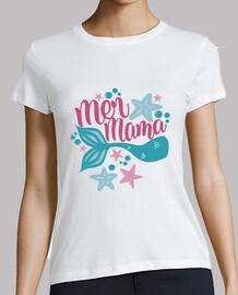 Camiseta Sirena Mama Fiesta Cumpleaños