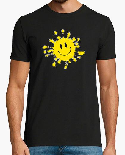 Camiseta smashed smiley