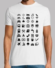 camiseta smileys weiß reisenden
