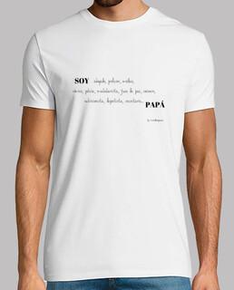 Camiseta SOY PAPÁ manga corta