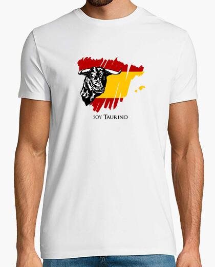 Camiseta Soy taurino con imagen de un toro y bandera de España