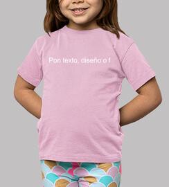 Camiseta Soy Tremending Niño y Niña, manga corta, rosa