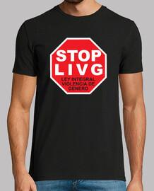 Camiseta StopLIVG color negro Hombre