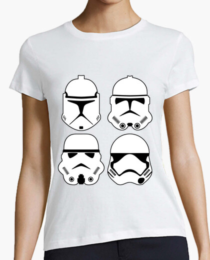 Camiseta Stormtrooper evolution (chica)