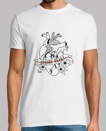 Camiseta Strong Heart Negro