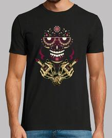 Camiseta Sugar Skull Retro Vintage