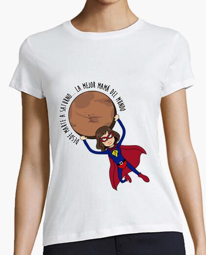 Camiseta Super mamá con planeta