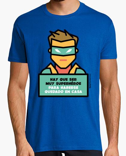 Camiseta Superhéroe en casa verde