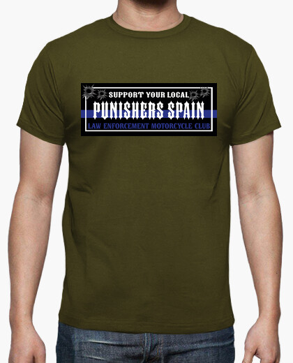 Camiseta Support Your Local oficial blue line