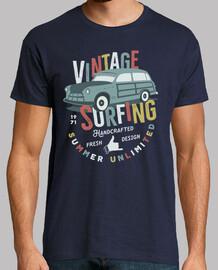 Camiseta Surfing Retro Vintage Surf 1971