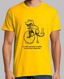Camiseta T Rex en bicicleta