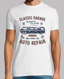 Camiseta Taller Coches Retro Vintage