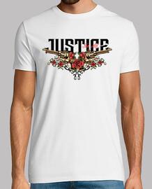Camiseta Tattoo Pistolas y Rosas Rojas Vintage Wild West Western Cowboy