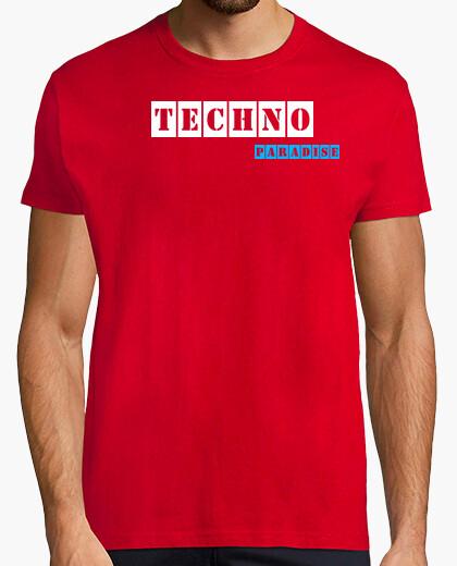 Camiseta Techno Paradise  Red By Blum Recordings Label