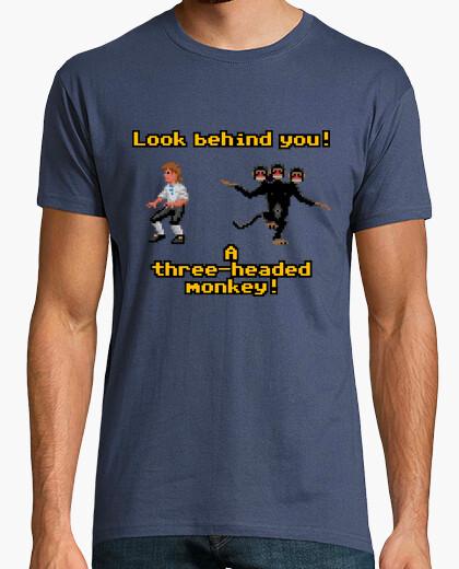 Camiseta The Secret of Monkey Island: Three-headed Monkey