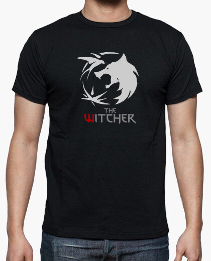 Camiseta The Witcher logo manga corta hombre