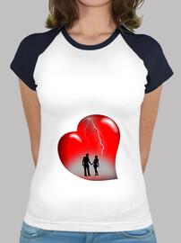 camiseta thunderbolts corazón bola base roja