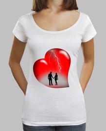 camiseta thunderbolts corazón rojo mujer