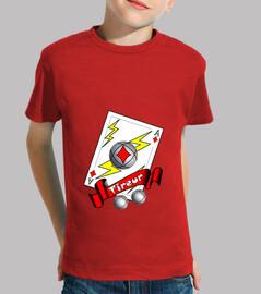 camiseta tirador de petanca tirador de niño