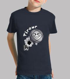 camiseta tirador petanca niño bola fs existe en el puntero