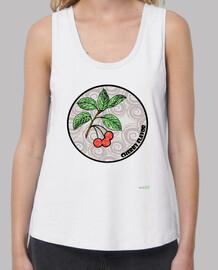Camiseta tirante ancho mujer: Cherry Flavor