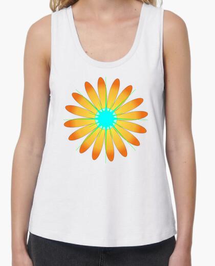 Camiseta tirantes anchos Girasol estrella