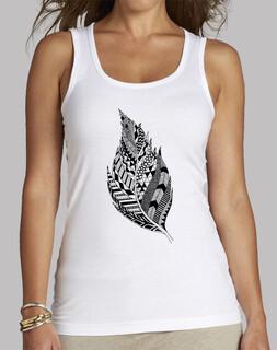Camiseta tirantes Pluma