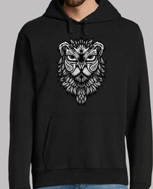 camiseta tribal de la cabeza del león