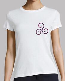 camiseta triskel fucsia