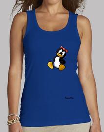 Camiseta Tuxiña, sin mangas, amarilla