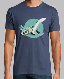 camiseta unisex - blauer schildkröte
