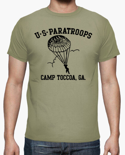 Camiseta US Paratroops Camp Toccoa mod.6