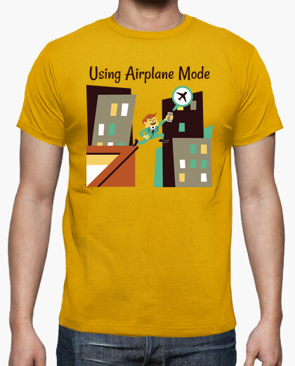 Camiseta Using Airplane Mode